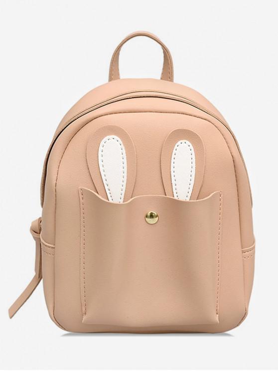 unique Bunny Ears Design Student Backpack - LIGHT PINK