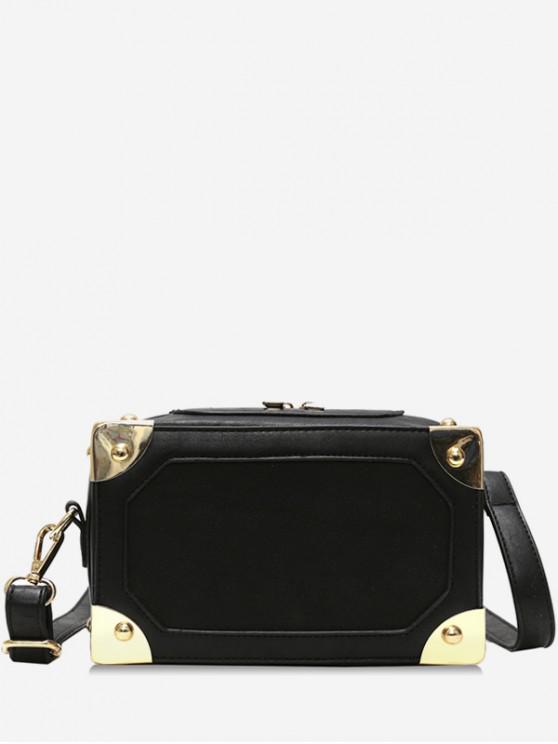 598783d5827a 31% OFF  2019 Square Box Shape Zipper Crossbody Bag In BLACK