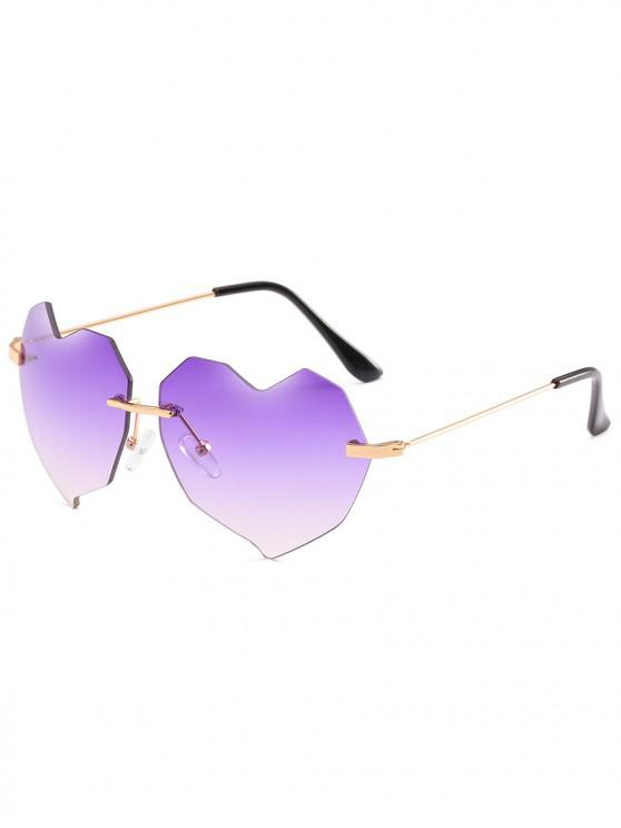7c25a6db80 11% OFF  2019 Novelty Irregular Heart Lens Rimless Sunglasses In ...