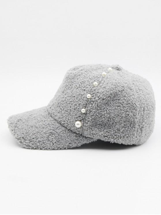 online Stylish Faux Pearl Embellished Baseball Cap - BATTLESHIP GRAY