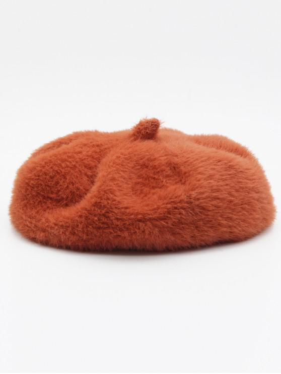 shops Winter Thick Polyester Painter Beret - ORANGE