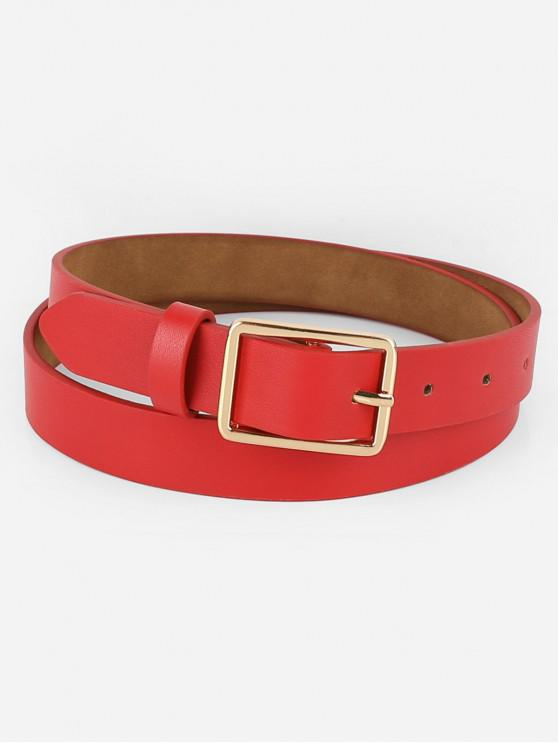 986d63495ba98 23% OFF] 2019 Simple Design Buckle Faux Leather Belt In RED | ZAFUL