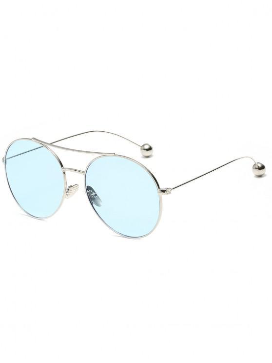ladies Novelty Steel Ball Leg Oval Sunglasses - LIGHT SKY BLUE