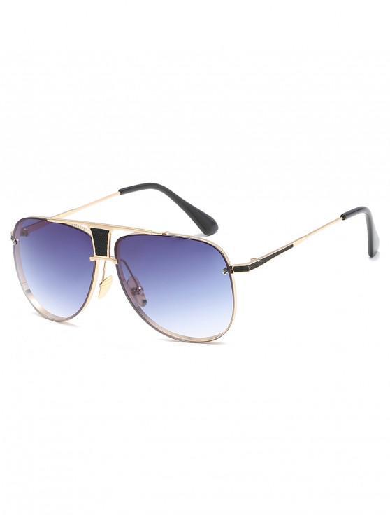 shops Anti Fatigue Crossbar Hollow Out Sunglasses - LIGHT SLATE GRAY