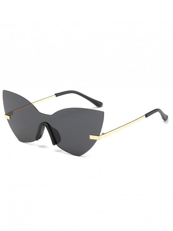 women's Anti Fatigue Rimless Flat Lens Sunglasses - BLACK