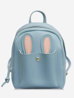 Bunny Ears Design Student Backpack - Light Sky Blue