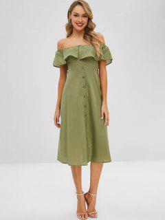 Rüschen Aus Dem Schulterkleid - Grün L