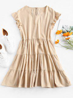 Ruffles Smock Dress - Apricot L