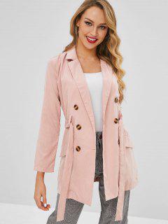 Lapel Trench Coat - Pink M