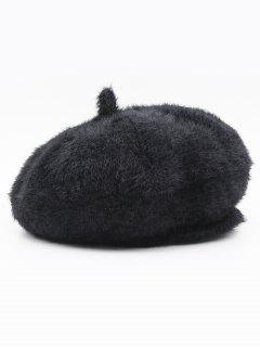 Winter Thick Polyester Painter Beret - Black