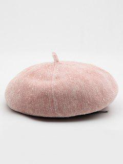Winter Solid Color Thick Beret - Pink