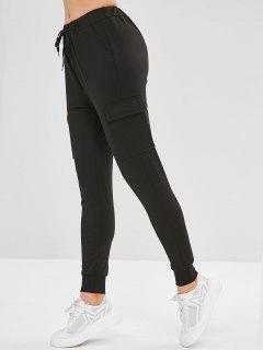 Pantalon De Survêtement De Jogging Avec Poches Jointives - Noir S