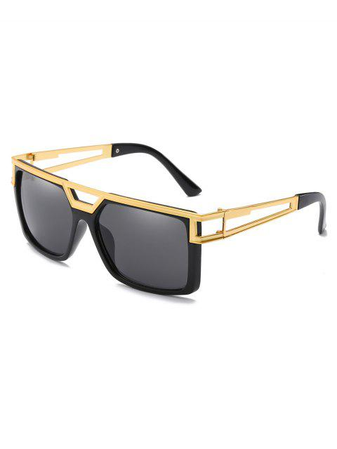 shops Stylish Alloy Crossbar Hollow Out Frame Sunglasses - BLACK EEL  Mobile
