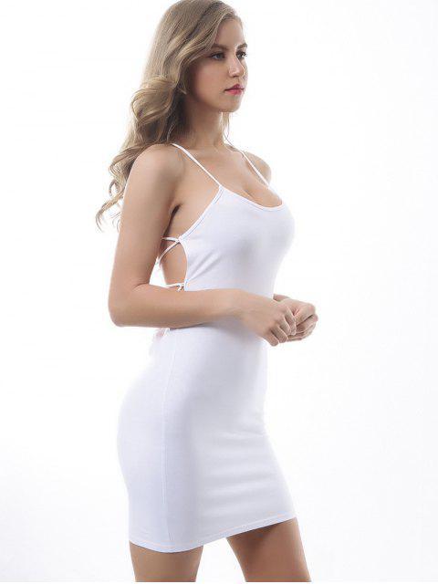 Robe Moulante Croisée Sans Dos - Blanc L Mobile