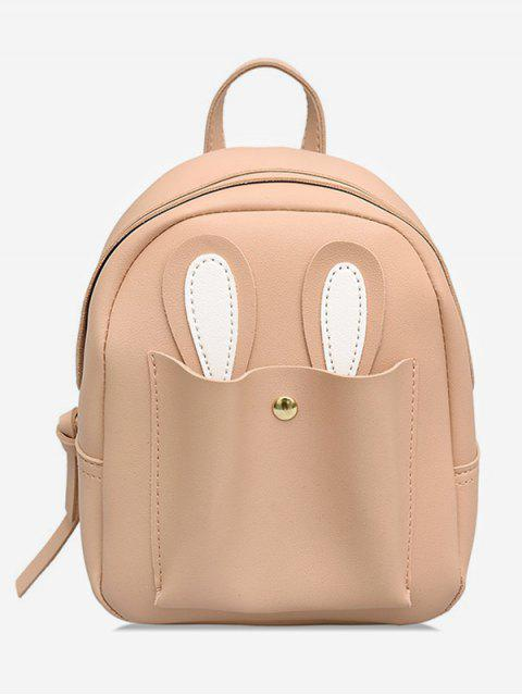 unique Bunny Ears Design Student Backpack - LIGHT PINK  Mobile