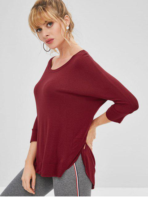 new Dolman Top - RED WINE L Mobile