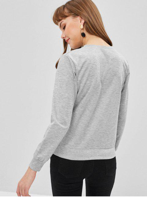 Sweat-shirt Ananas avec Poche - Nuage Gris XL Mobile