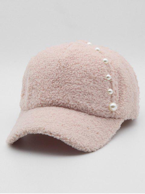 Стильная Бейсбольная Шляпа Искусственный жемчуг для украшения - Розовый  Mobile