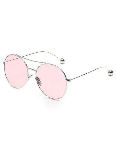 trendy Novelty Steel Ball Leg Oval Sunglasses - PIG PINK  Mobile