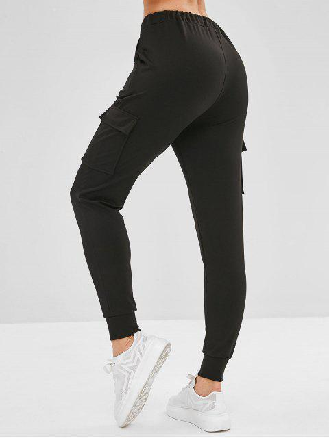 Pantalon de Survêtement de Jogging avec Poches Jointives - Noir L Mobile