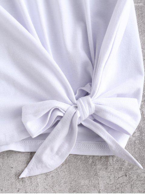 T-Shirt Love Graphique Noué - Blanc M Mobile