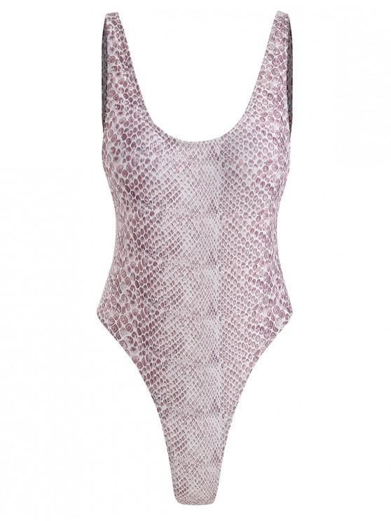 women Gemstone High Cut Swimsuit - MULTI M