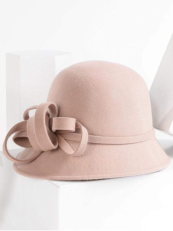 10d36442ec95 41% OFF] 2019 Bowknot Design Wool Bucket Hat In CAMEL BROWN | ZAFUL