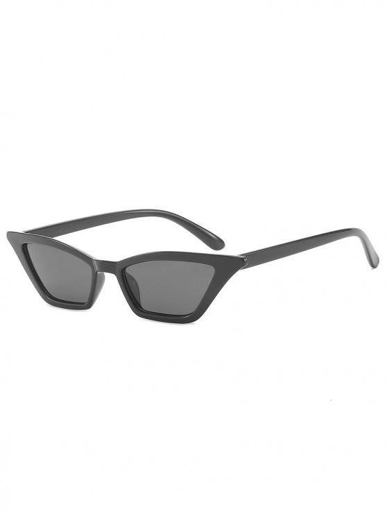 latest Anti UV Irregular Frame Flat Lens Beach Sunglasses - BLACK