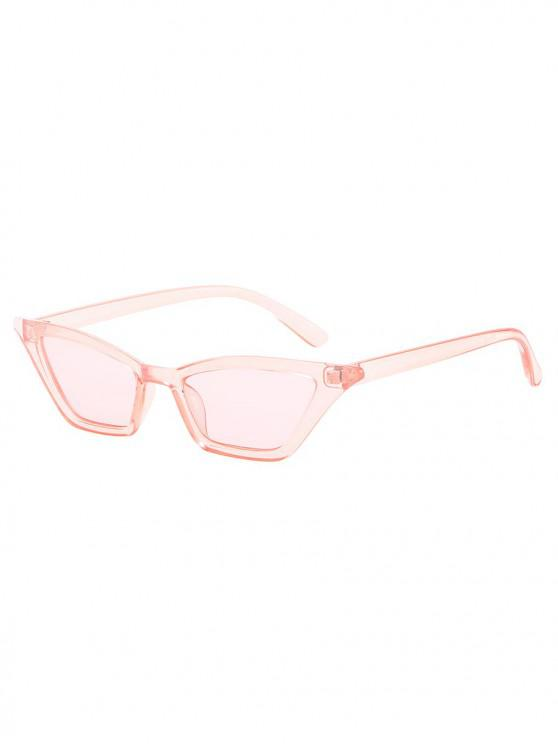 chic Anti UV Irregular Frame Flat Lens Beach Sunglasses - PIG PINK