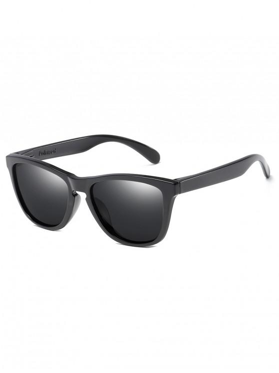 fancy UV Protection Flat Lens Driving Sunglasses - BLACK
