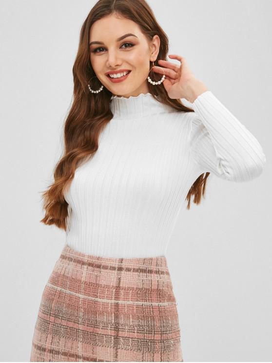 buy Slim Knit High Neck Sweater - WHITE ONE SIZE