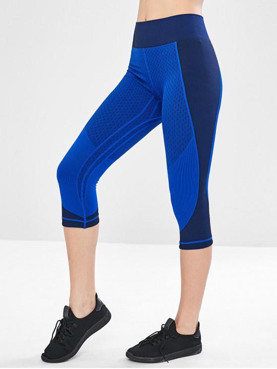 Leggings Sportivi Senza Cuciture - Blu M