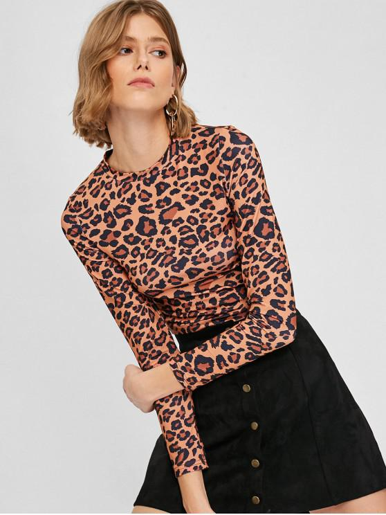 42% OFF  2019 Fitted Leopard Print Crop Top In LEOPARD M  d05153dab
