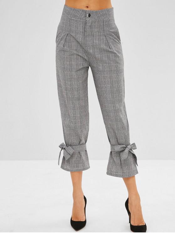 Pantaloni A Quadretti Con Nodo - Multicolore L