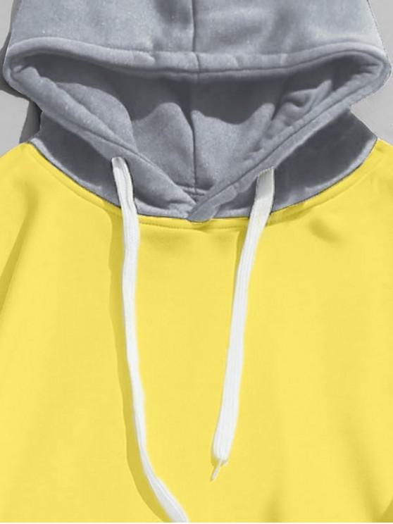 Capuche Sweat Serrage En Blocs À Avec CouleursJaune shirt Cordon De M Et hBtsrdQCxo