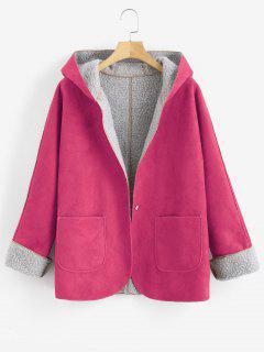 Manteau à Capuche En Peau De Mouton - Rose Brûlé M