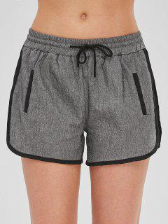 Drawstring Pull On Dolphin Shorts - Grau L
