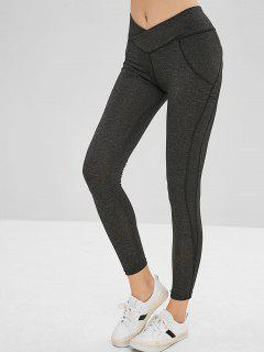 Mid Waist Scrunch Leggings - Gray M