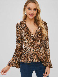 Top Con Estampado De Leopardo Y Estampado De Leopardo - Leopardo M