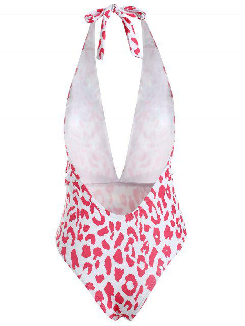 outfits Printed Halter One Piece Swimsuit - LOVE RED S Mobile