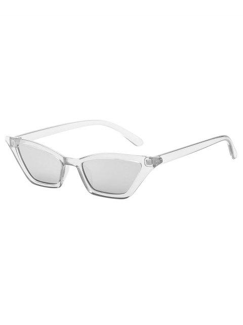 outfit Anti UV Irregular Frame Flat Lens Beach Sunglasses - SILVER  Mobile