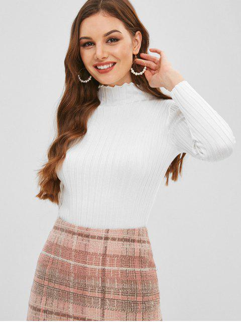 buy Slim Knit High Neck Sweater - WHITE ONE SIZE Mobile