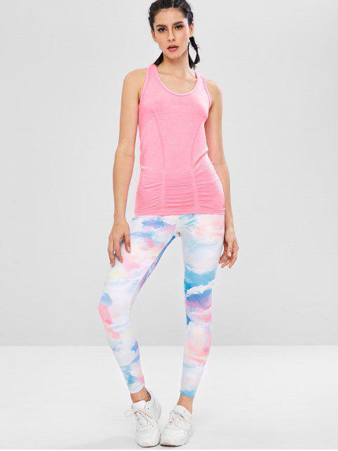 Débardeur de Sport de Gym au Dos Nageur Sans Couture - Rose Clair L Mobile