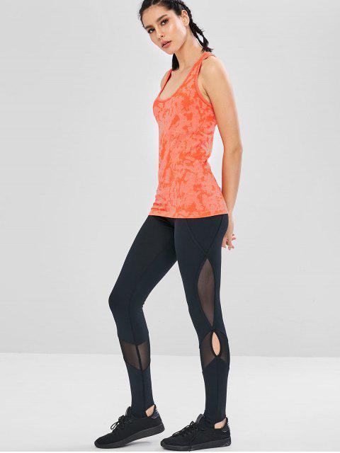 Débardeur de Sport Sans Couture au Dos Nageur - Orange de Lever du Soleil L Mobile