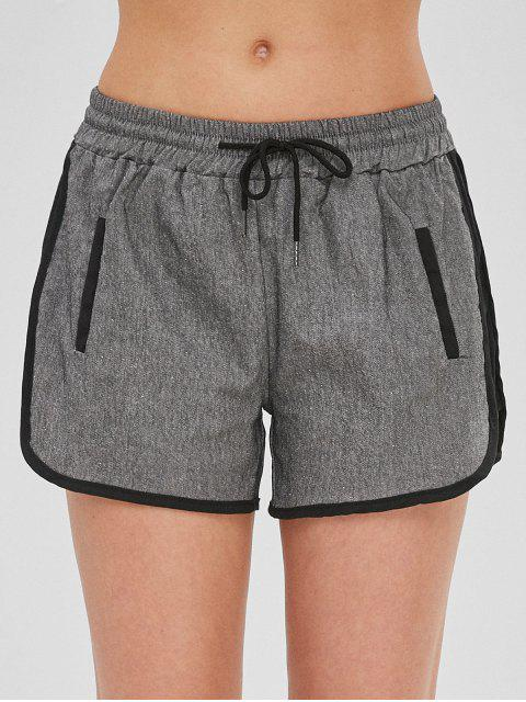 Short Dauphin à Cordon - Gris XL Mobile