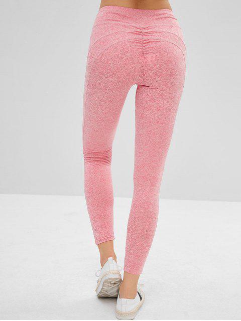 online Mid Waist Scrunch Leggings - PINK ROSE L Mobile