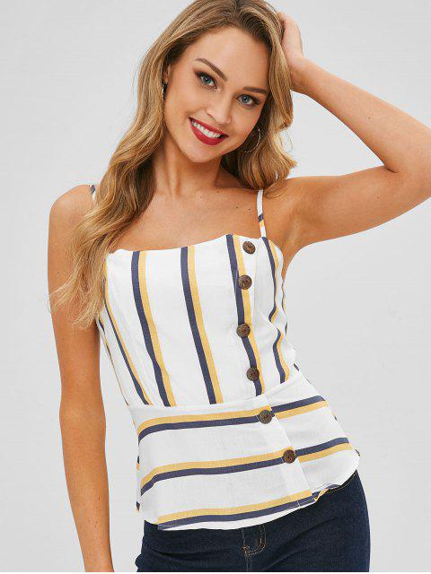 shops Striped Buttoned Cami Top - MULTI XL Mobile