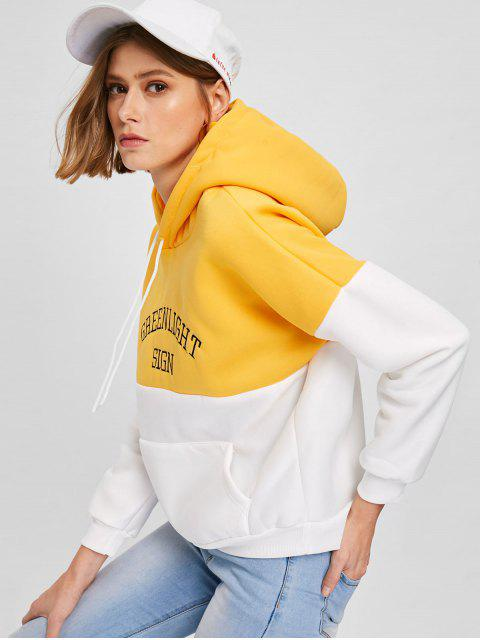 new Two Tone Embroidered Pocket Hoodie - MULTI-A XL Mobile