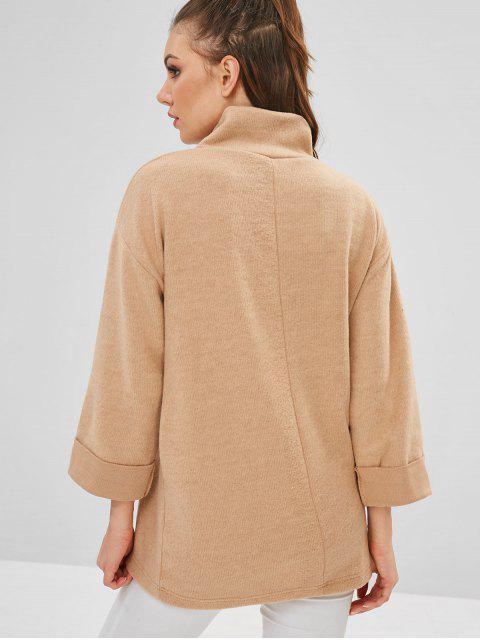 Sweat-shirt brodé de lettres à épaules tombantes - Bronze Taille Unique Mobile