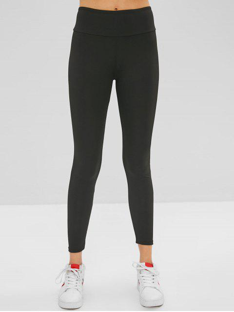 womens Can Do It Graphic Leggings - BLACK M Mobile